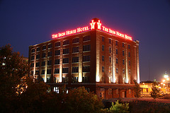 The Iron Horse Hotel at Night